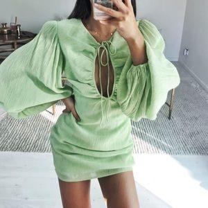 Sabo Skirt Pistachio Keyhole Dress